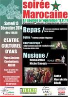 Soirée marocaine le samedi 13 décembre en soutien à l'opération 11.11.11