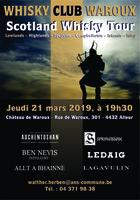 Whisky Club Waroux : scotland Whisky Tour - Jeudi 21 mars 2019 dès 19h30