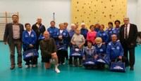 Remise des sacs au club de gymnastique du Bas d'Ans Horizon 2020