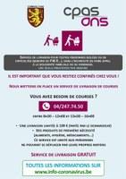Un service de livraison pour les personnes isolées ou en difficultés (Seniors ou PMR)…