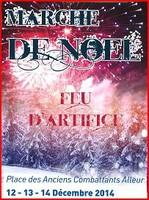 Marché de Noël les 12, 13 et 14 décembre place des Anciens Combattants à Alleur.