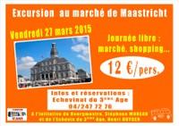 Excursion au marché de Maastricht, vendredi 27 mars