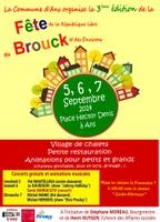 5, 6 et 7 septembre, Fête du Brouck et des environs