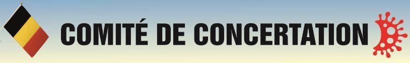 Comité de concertation : Prochaine étape du Plan « été » dès le 27 juin